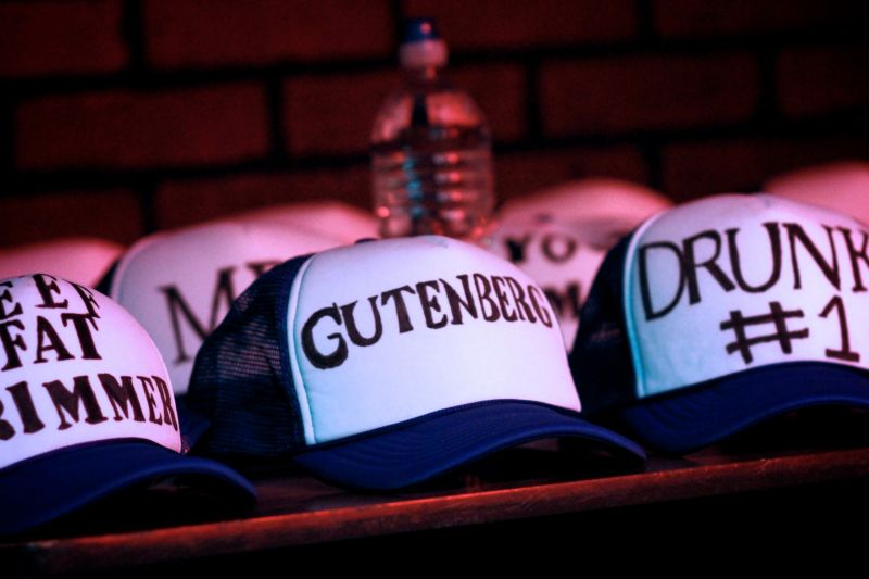 Hats Gutenberg at NextStop [photo by Jaclyn Young]