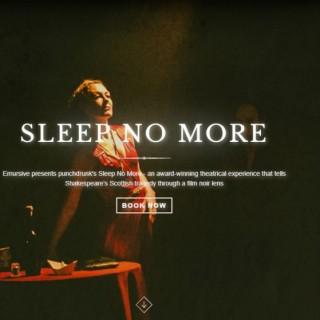 Sleep No More: Macbeth déambule